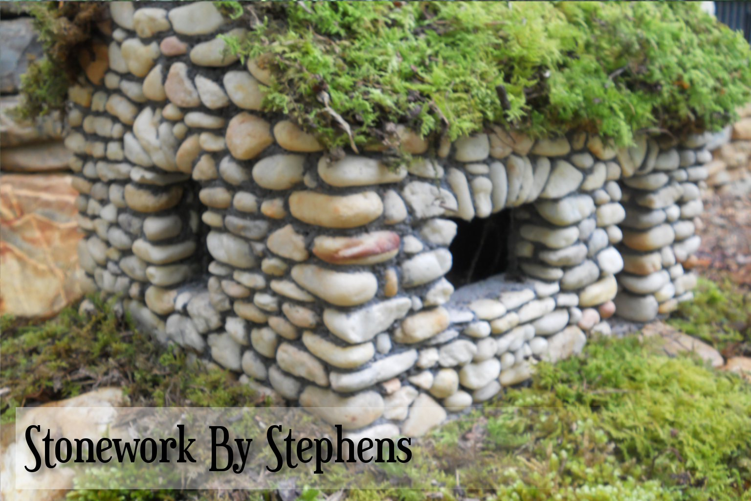 Miniature stone houses stoneworkbystephens for Mini garden landscape