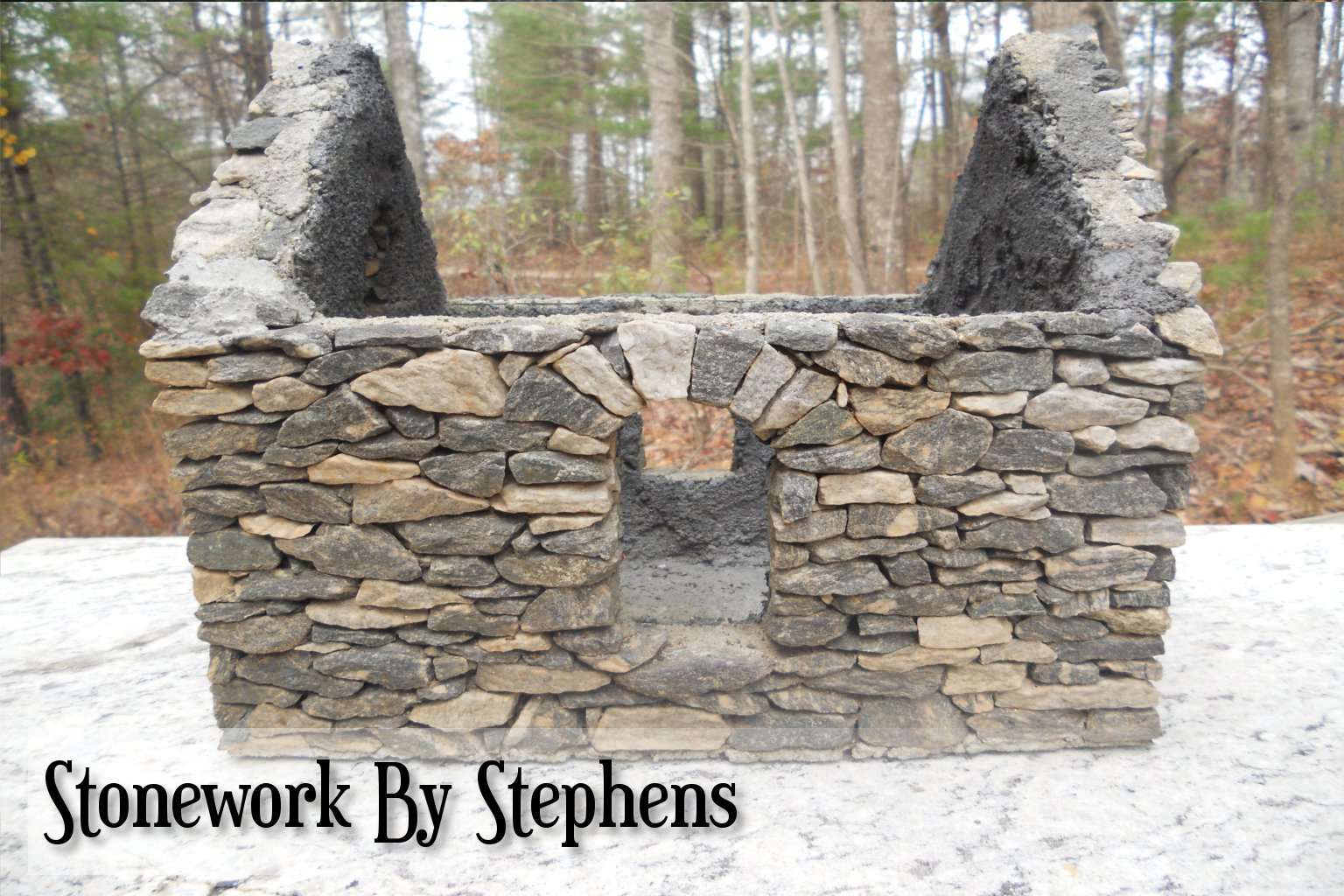 how to build a miniature stone house stoneworkbystephens