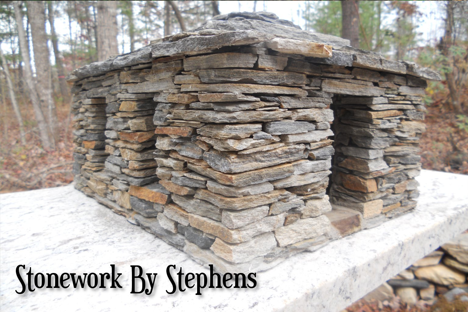 How to build a miniature stone house stoneworkbystephens for Stone built homes